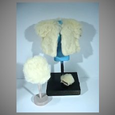 Vintage Vogue Ginny Outfit #1367, Fur Coat, Hat&Muff
