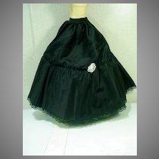 Vintage Full Length Madame Alexander Black Petticoat for Cissy