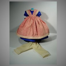 """Vintage Madame Alexander Little Women Jo Outfit for 11 1/2"""" Doll, 1957"""