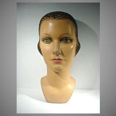 VIntage 1930's Ladies Mannequin Head