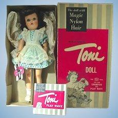 """Beautiful Ideal 16 1/2"""" Ideal Toni Walker Doll in Box, 1954"""