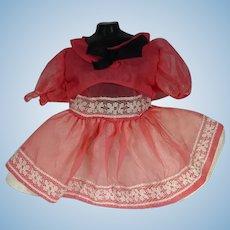 Vintage Chiffon Doll Party Dress, 1960's