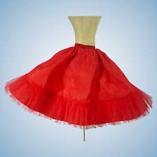 Vintage Madame Alexander Cissy Red Petticoat, 1950's