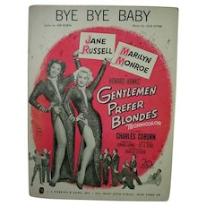 Original 1953 Sheet Music, Marilyn Monroe&Jane Russell, Gentleman Prefer Blonds 1953