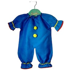 Original Outfit for Bozo The Clown, Knickerbocker, 1960's