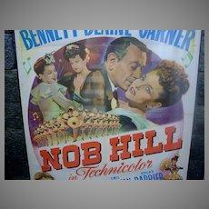Original 1945 One Sheet Movie Poster, Nob Hill, George Raft, Joan Bennett