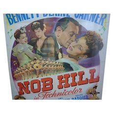 Original 1945 One Sheet Movie Poster, Nob Hill, George Raft, Joan Bennett