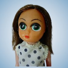 Vintage 1960's Big Eyed Doll, Keane Era, Hong Kong