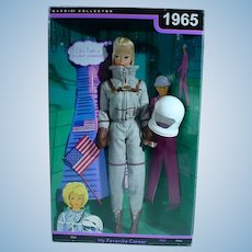 NRFB Mattel Barbie Collector Series Blond American Girl Miss Astronaut, 1965 Repro