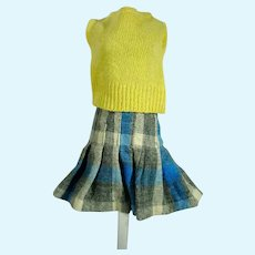 Vintage Mary Hoyer Size Sweater and Pleated Skirt, 1950's