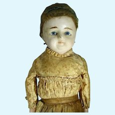 Wax Over Paper Mache Lady Doll, Antique, 1800's, 28 Inches Tall
