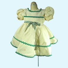 Vintage Cotton Doll Dress, 1950's