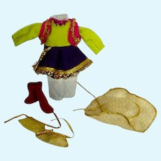 Vintage Vogue Ginny Merry Moppets Cowgirl Outfit, 1955