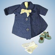 Vintage Madame Alexander-kin Spring Coat with Accessories, 1950's