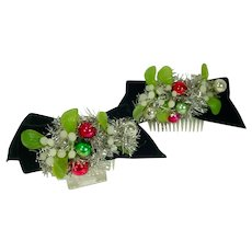 Campy Vintage 1950's Holiday Ladies Barrettes