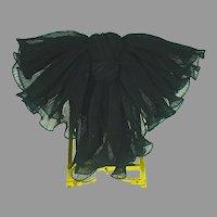 Vintage 1980's Alexandre De Paris Silk Chiffon Ladies Barrette