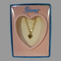 Vogue MIB Ginny Heart Necklace, 1980's