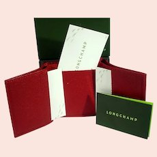 Never Used Longchamp Le Foulonné Compact Wallet, in the Original Box