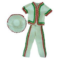 VIntage 1960's Mexican Costume for Vintage Ken Doll