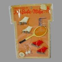 NRFP Mattel Barbie Pak Set For Rink & Court, 1964
