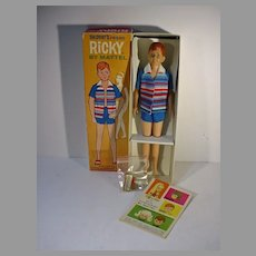 Vintage Mattel Ricky Doll, MIB, 1965