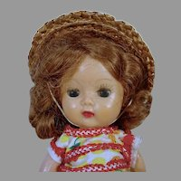 Charming Nancy Ann Muffie 8 Inch Doll, Dressed, 1950's