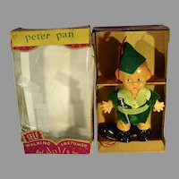 Rare 1950's Peter Pan Self Walking Doll, Bal, Inc, MIB