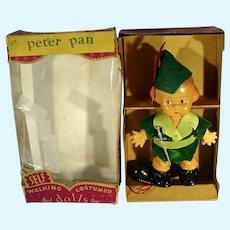 Rare 1950's Peter Pan Self Walking Doll, Bal, Inc, MIB