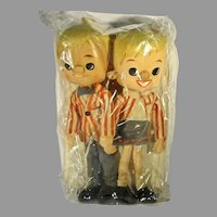 HTF Never Used 1964-65 N.Y. Worlds Fair, Cloth Tour Guide Dolls