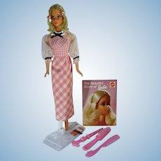 Vintage Mattel 1972 Quick Curl Barbie w/ Accessories