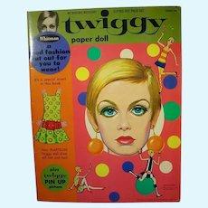 Vintage Twiggy Un-Cut Paper Dolls,1967!