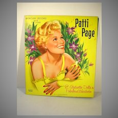Rare Un-Cut Patti Page Paper Dolls, 1958