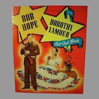Rare Bob Hope and Dorothy Lamour Paper Dolls, 1942, Whitman