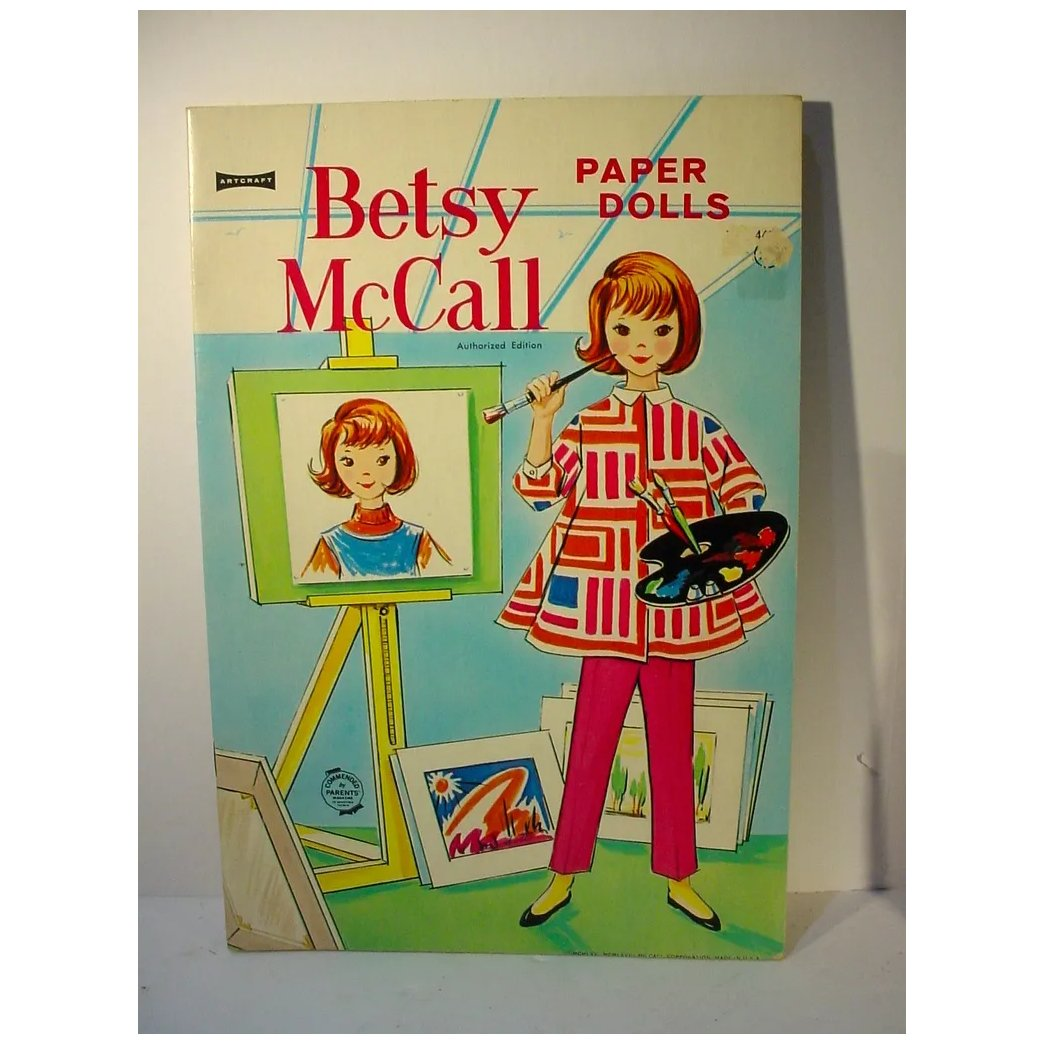 Vintage Betsy Mccall Paper Dolls Un Cut 1958 Fourty Fifty Sixty Ruby Lane