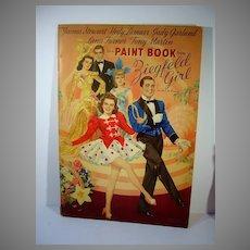 Vintage 1941 Zeigfeld Girl Paint Book, 1941 Judy Garland, Lana Turner, RARE!
