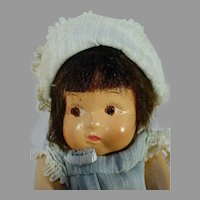 Charming Composition Baby Doll, All Original, 1930's