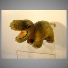 Vintage Steiff Mockie the Hippo Animal, 1960's,Paper Tag
