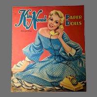 Rare, Mint-Un-Cut Kim Novak Paper Dolls, 1957, Saalfield