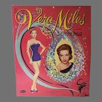 VIntage Vera Miles Un-Cut Paper Dolls, Whitman, 1957