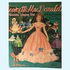 Original 1941 Jeanette MacDonald Paper Dolls, Merrill