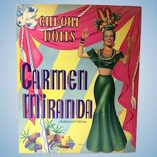 Uncut Carmen Miranda Paper Dolls, 1942,  Whitman