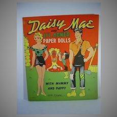 Vintage Un-cut Daisy Mae & Li'l Abner Paper Dolls, Call Capp, Saalfield, 1951