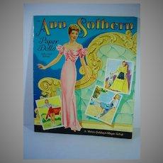 Vintage Saalfield Ann Southern Paper Dolls, 1943, Mint and Un-Cut