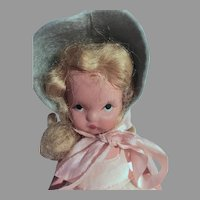 Vintage Nancy Ann Storybook Bisque Doll, Over The Hills, 1940's