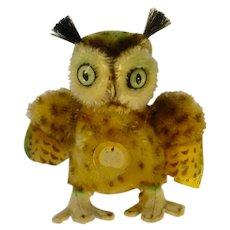 Vintage 1960's Steif Wittie, The Owl, Mohair/Felt
