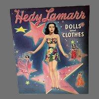Rare Vintage Hedy Lamarr Un-Cut Paper Dolls, Merrill, 1942