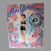Rare Un-Cut, Mint Ava Gardner Paper Dolls, 1949, Whitman