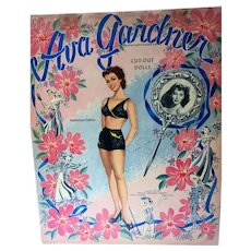 Rare Un-Cut, Mint Ava Gardner Paper Dolls, 1949, Whitman