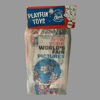 1964-1965 New York World's Fair Souvenir, Flash Cards...Never Opened