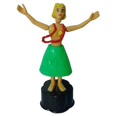 RARE Hula Girl Push Puppet by T.M.